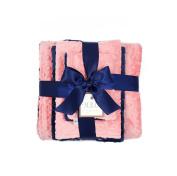 MEG Original Coral & Navy Blue Minky Dot Baby Girl Shower Gift Set, 951