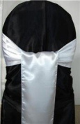 Mds Pack of 125 satin chair sashes bow for wedding and Events Supplies Party Decoration chair cover sash White
