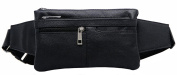 Genuine Leather Waist Pack,Chest Pack,Multiple Compartments Bum Bag for Outdoor Sports and Any occasions
