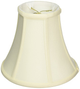 Royal Designs True Bell Lamp Shade, Eggshell, 4 x 8 x 7.25, Round Clip