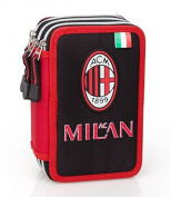 AC Milan 82124 Triple Tier Filled Pencil Case with Contents 44pcs