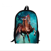 YL Story Unisex 3D Animals Print Daypack Childrens Backpack Kids Rucksack Boys Girls Toddler Nursery School Bag Horse 4