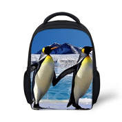 Antarctic Penguins Printed Baby Boys Small Backpack for Day Trip Zoo Amusement Park