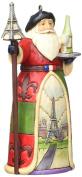 Jim Shore for Enesco Heartwood Creek French Santa Ornament, 11cm