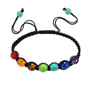 Malloom 7 Chakra Healing Balance Beads Bracelet Yoga Bracelet
