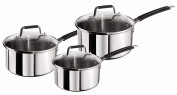 Tefal Jamie Oliver Stainless Steel Classic Series Cookware Set, 3 Pieces -