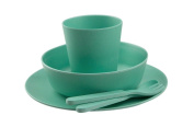 Bobo And Boo Bamboo 5 Piece Dinner Set - Mint Green
