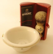 Kent BK4 shaving brush & porcelain shaving bowl