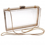 Women Jelly Handbag Evening Handbag Transparent Clear Box Clutch Acrylic Cross-Body Purse Bag Ladies Gift Ideal