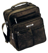 1990 M.Handyfach Bag Shoulder Bag Travel Organiser, extra Zip-Up compartment in Black or Brown CA,23,0 x 28 x 15 CM