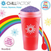 Chillfactor Squeeze Cup Tutti Frutti Slushy Ice Drink Maker - Red