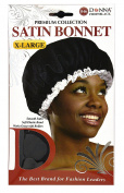 Donna Premium Collection X-Large Black Satin Bonnet