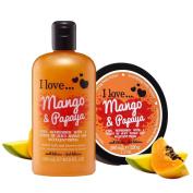 I Love… Mango & Papaya Shower Gel and Body Butter Duo Pack