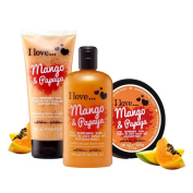 I Love… Mango & Papaya Shower Gel, Shower Smoothie and Body Butter Trio Pack