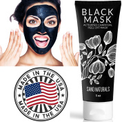 Charcoal Peel Off Mask - MADE IN USA - 50% MORE Blackhead Remover Black Mask Purifying Peel Off Mask for Face - 90 mL
