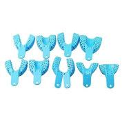 Zgood 10pcs Orthodontic Oral Bracket Light Blue Impression Trays Autoclavable Centra Supply Tools