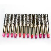 kaiCran 12pcs/lot Lipsticks Lip Stain Makeup Lot Leopard Moisturising Lip Stick Set