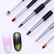 NICOLE DIARY 6Pcs Gradient Drawing Painting Brush Nail Art UV Gel Pen For Manicure DIY Tool