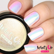 Whats Up Nails - Aurora Pigment White Chrome Powder For Unicorn Nails