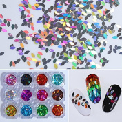 NICOLE DIARY 2g Holographic Marquise Glitter Sequins Flakes Paillette Nail Art Decoration #10