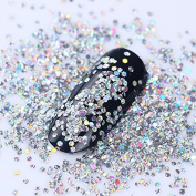NICOLE DIARY Silver Pentagon Nail Flakies Hollow Shining Nail Paillette Sequins DIY Nail Art Decoration