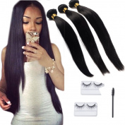 Haironline Human Hair Bundles 30cm - 50cm Brazilian Virgin Hair Straight 100% Remy Unprocessed Hair Extensions Natural