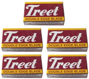 50 Treet Carbon Steel Double Edge Razor Blades
