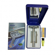 MSmask Men's Adjustable Safety Razor Double Edge Razor Pack 1 Handle & 1 Blades Gift