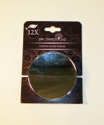 12 X Chrome Magnifying Macro Mirror by Spa Expressions 8.9cm wide with Suction Cups