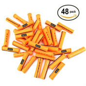 48 pc of COTU (R) Hair Perm Rods Jumbo Size - Tangerine Colour