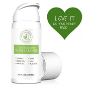 Natural & Organic Facial Wash with Vitamin C - Anti Ageing, Breakout & Wrinkle Reducing Face Cleanser for Clear & Reduced Pores - Antioxidant Face Wash For Oily, Dry & Sensitive Skin