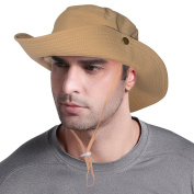 Safari Fishing Hat Water Resistant Outdoor Bonnie with Adjustable Chin Strap