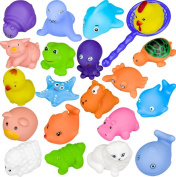 Bathing Toys, BuycheapDG 10 pcs Different Animals Sounding toys Baby Kids Bathing Toys Bathroom Play Water Pool Accessory