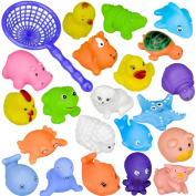 Bathing Toys, BuycheapDG 20 pcs Different Animals Sounding toys Baby Kids Bathing Toys Bathroom Play Water Pool Accessory