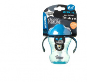 Closer To Nature Weaning Straw Cup 230ml Blue