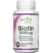Biotin Hair Growth Vitamins 10000mcg 200 6mm Tablets Money Back Uk Buy