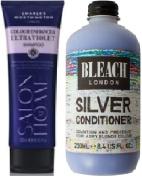 (2 PACK) Charles Worthington Colour Enhancer ULTRA VIOLET Shampoo x 250ml & Bleach London Silver Conditioner x 250ml