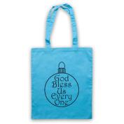 Christmas Carol God Bless Us Every One Tote Bag