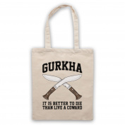 Gurkha Motto It Is Better To Die Than Live A Coward Tote Bag