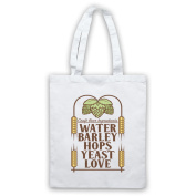 Craft Beer Ingredients Water Barley Hops Yeast Love Tote Bag