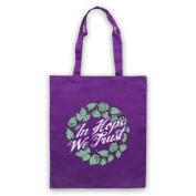 In Hops We Trust Funny Slogan Tote Bag