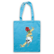 Skull & Rose Gothic Illustration Tote Bag