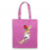 Skull & Rose Gothic Illustration Tote Bag