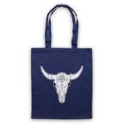 Buffalo Skull Illustration Tote Bag