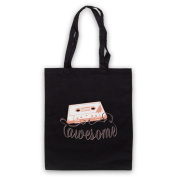 Cassette Tape Awesome Text Tote Bag
