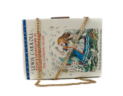 Book Shape Harry Potter/ Alice In Wonderland/ House Of Cards Clutch Bag With Small Coin Holder Purse For Women & Girls 21.5x16x5 cm