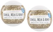 Fizz & Bubble Artisan Bath Fizzy 2 Pack Oatmeal, Milk & Honey 190ml