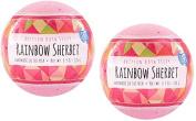 Fizz & Bubble Artisan Bath Fizzy 2 Pack Rainbow Sherbet. 190ml