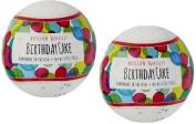 Fizz & Bubble Artisan Bath Fizzy 2 Pack Birthday Cake. 190ml