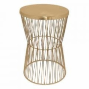 Metal Accent Table - Copper - Benzara